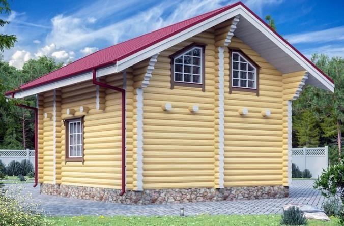 """Дом из оцилиндрованного бревна 83 м2 """"Вознесенский"""""""