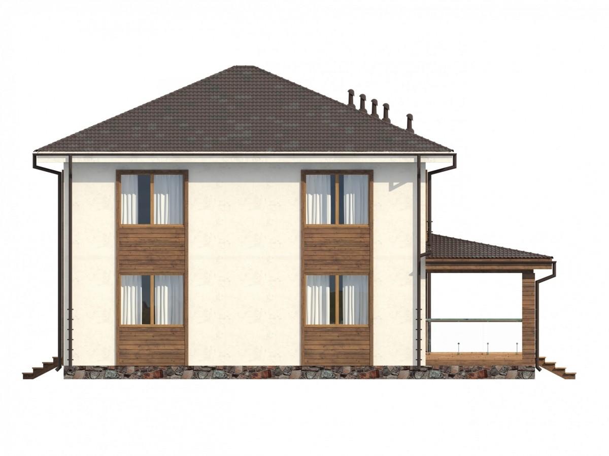 "Дом из бетона ""Батуми"" 16х16 два этажа 520м2"